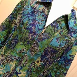 WOMENS 6 RUBY RD zip-up BLOUSE top SHIRT GORGEOUS!